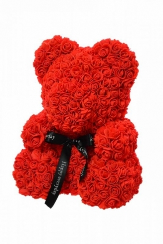 LARGE RED TEDDY BEAR of roses in a luxury box