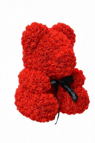 RED TEDDY BEAR of roses in a luxury box