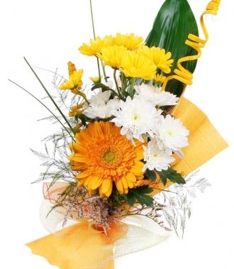 Букет хризантема и гербер